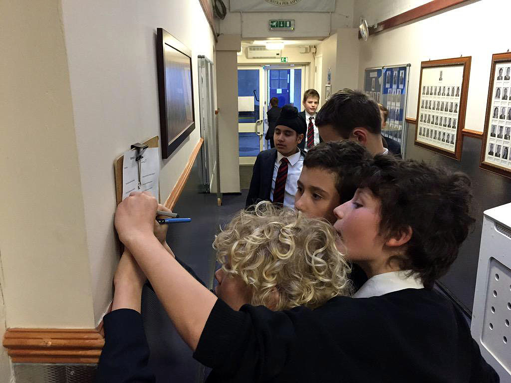 Year 7 hunting for answers