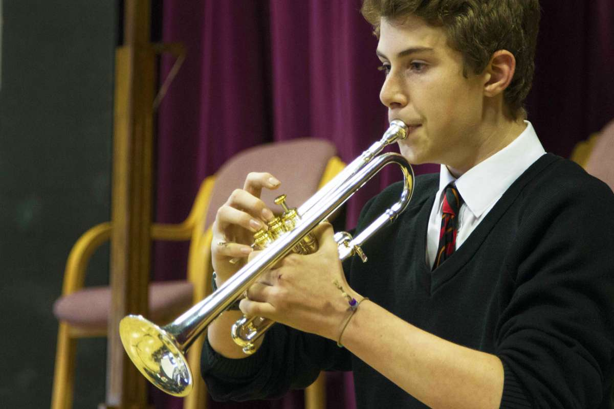 Playing the trumpet - Max Povinelli (Year 13)