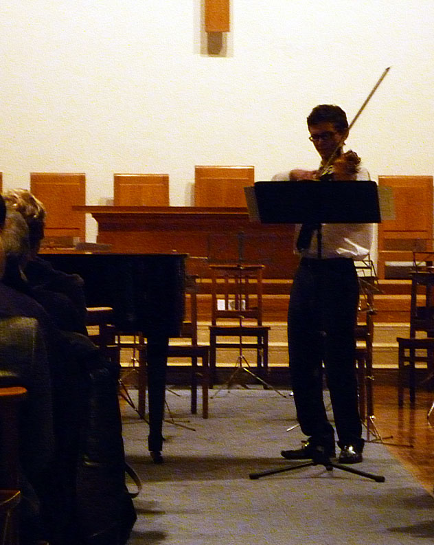 Solo on violin - Marshall Scott (Year 9)