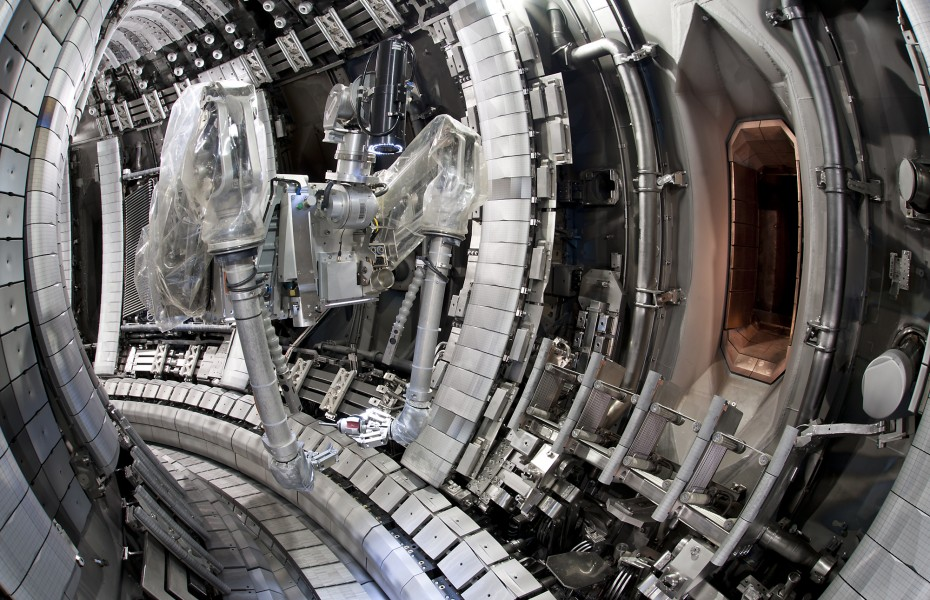 Inside the tokamak